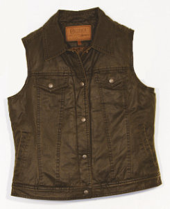 Outback Trading Ladies Mesa Vest<font color=#000080>-SIZE:  Small  COLOR:  Brown</font> Best Price