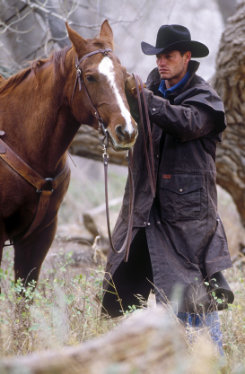 Outback Oilskin Duster with Leather Collar Best Price