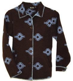 Outback Trading Ladies Valencia Blanket Coat<font color=#000080>-SIZE:  Medium  COLOR:  Brown/Blue</font> Best Price