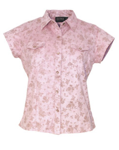 Outback Trading Ladies Bloomin' Butterflies Shirt
