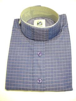 Pale Horse Childs Long Sleeve Cotton Show Shirt<font color=#000080>- Size:  12  Color:  Blue/Pink Windowpane</font> Best Price