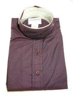 Pale Horse Childs Long Sleeve Cotton Show Shirt<font color=#000080>- Size:  12  Color:  DK Burgundy</font> Best Price