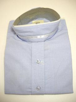 Pale Horse Childs Long Sleeve Cotton Show Shirt<font color=#000080>- Size:  12  Color:  Blue miniCheck</font> Best Price
