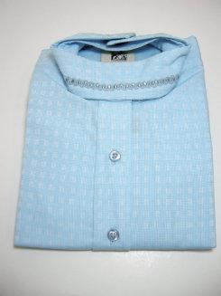 Pale Horse Childs Long Sleeve Cotton Show Shirt<font color=#000080>- Size:  12  Color:  Blue Dobby</font> Best Price