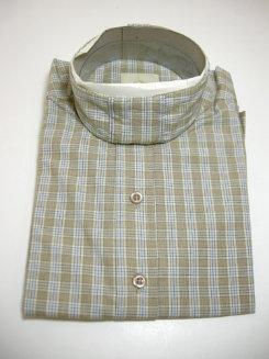 Pale Horse Childs Long Sleeve Cotton Show Shirt<font color=#000080>- Size:  10  Color:  Blue/Tan Check</font> Best Price