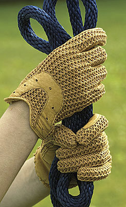 Perri's Leather Crochet Glove