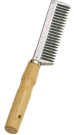 Perri's Leather Wooden Handle Tail Comb