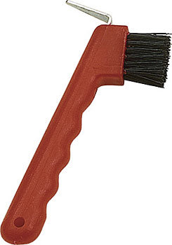 Perri's Leather Hoofpick and Brush
