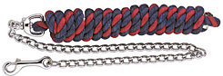 Perri's Leather Multi Colored Cotton Lead with Chain