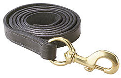 Perri's Leather Collection Leather Lead with Solid Brass Snap