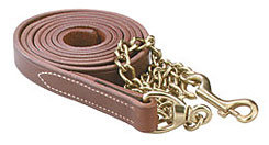 Perri's Leather Lead with Solid Brass Chain