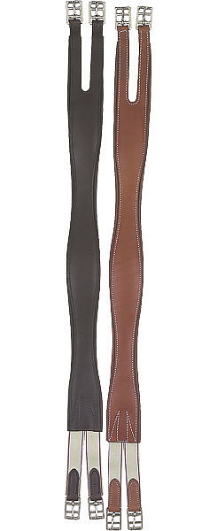 Perri's Leather Collection Leather Overlay Girth