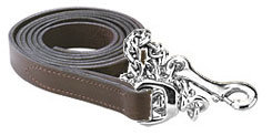 Perri's Leather Lead with Chrome Plate Chain