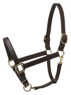 Perri's 1 Deluxe Turnout Leather Halter Best Price