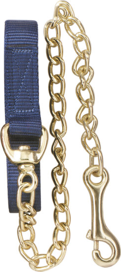 Perri's Flat Nylon Lead with Brass Plated Chain