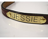 Perri's Leather Bracelet with Custom Brass Nameplate