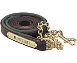 Perri's Soft Padded Leather Lead with Custom Nameplate