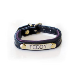 Padded Leather Bracelet w/Plate Best Price