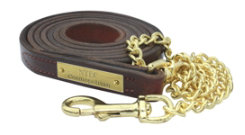 Perri's Custom 3/4 Leather Lead with Chain Best Price