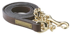 Perri's Custom 1 Leather Lead with Brass Chain Best Price