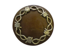 Metalab Antique Barb Wire Concho with Slots Best Price