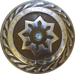 Metalab Antique Blue Rhinestone Concho with Loop Best Price