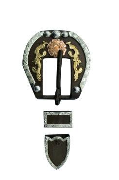 Metalab Antique Copper 'n Brass Floral Buckle Set Best Price