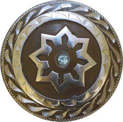Metalab Antique Blue Rhinestone Chicago Screw Concho Best Price