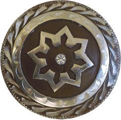 Metalab Antique Clear Rhinestone Chicago Screw Concho Best Price