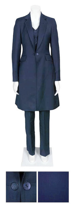 RJ Classics Ladies Navy Stretch Herringbone Saddleseat Suit Best Price
