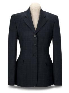 RJ Classics Ladies Essential Blue Plaid Show Coat Best Price