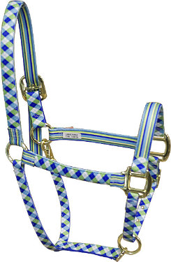 High Fashion Horse Argyle with Stripes Breakaway Halter Best Price