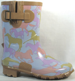 Smoky Mountain Kids Painted Ponies Rubber Boots