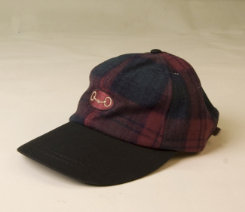 Stirrups Adult Burgundy Plaid Bit in Oval Wool Cap Best Price