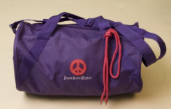 Stirrups Peace Sign Applique Duffle Bag Best Price