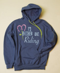 Stirrups Adult I'd Rather Be Riding Hoodie Best Price