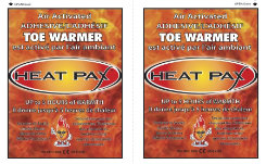Techniche HeatPax Air Activated Adhesive Toe Warmers Best Price