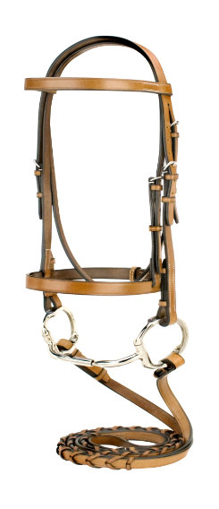 Silverleaf Snaffle Bridle with Reins
