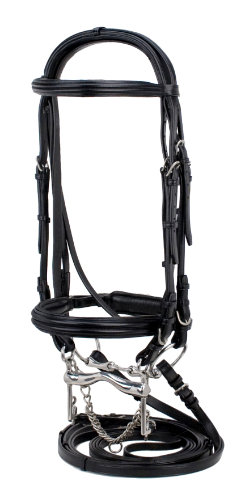 Silverleaf Double Raised Padded Double Bridle with Crank Noseband Best Price