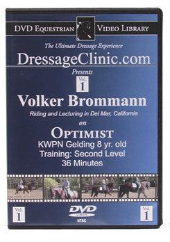 DVD Equestrian Video Library Dressage Volker Brommann on Optimist Best Price