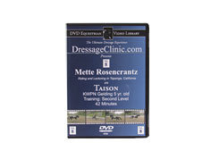 DVD Equestrian Video Library Dressage Metter Rosencrantz on Taison Best Price