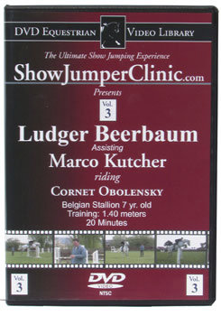DVD Equestrian Video Library Show Jumping Ludgar Beerbaum w/ Marco Kutcher on Obelinsky Best Price