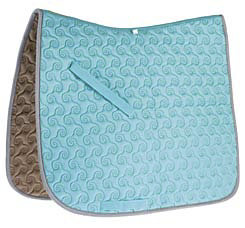 Roma Ecole Contrast Stitch Swirl Quilt Saddle Pad Best Price