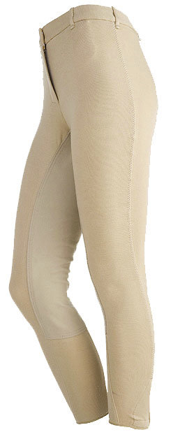 On Course Ladies Cotton Natural Full Seat Riding Breeches
