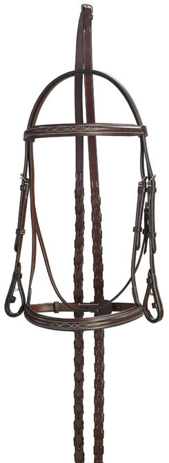Collegiate Raised Padded Fancy Bridle