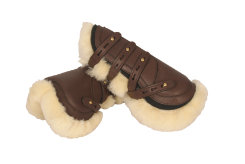Crosby Leather Open Front Sheepskin Boots Best Price