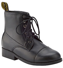 Saxon Equileather Lace-Up Childs Paddock Boots Best Price