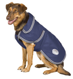 WeatherBeeta Landa Deluxe Dog Blanket<font color=#000080> - Size:  12  Color: Navy/Silver</font> Best Price