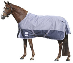 Weatherbeeta Landa Freestyle Lightweight Turnout Blanket<font color=#000080>- SIZE:  66  COLOR:  Navy/Silver</font> Best Price