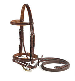 Vespucci Plain Raised Jumper Bridle with Flash